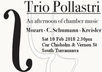 Trio Pollastri South Turramurra February 10 2018 2.30pm